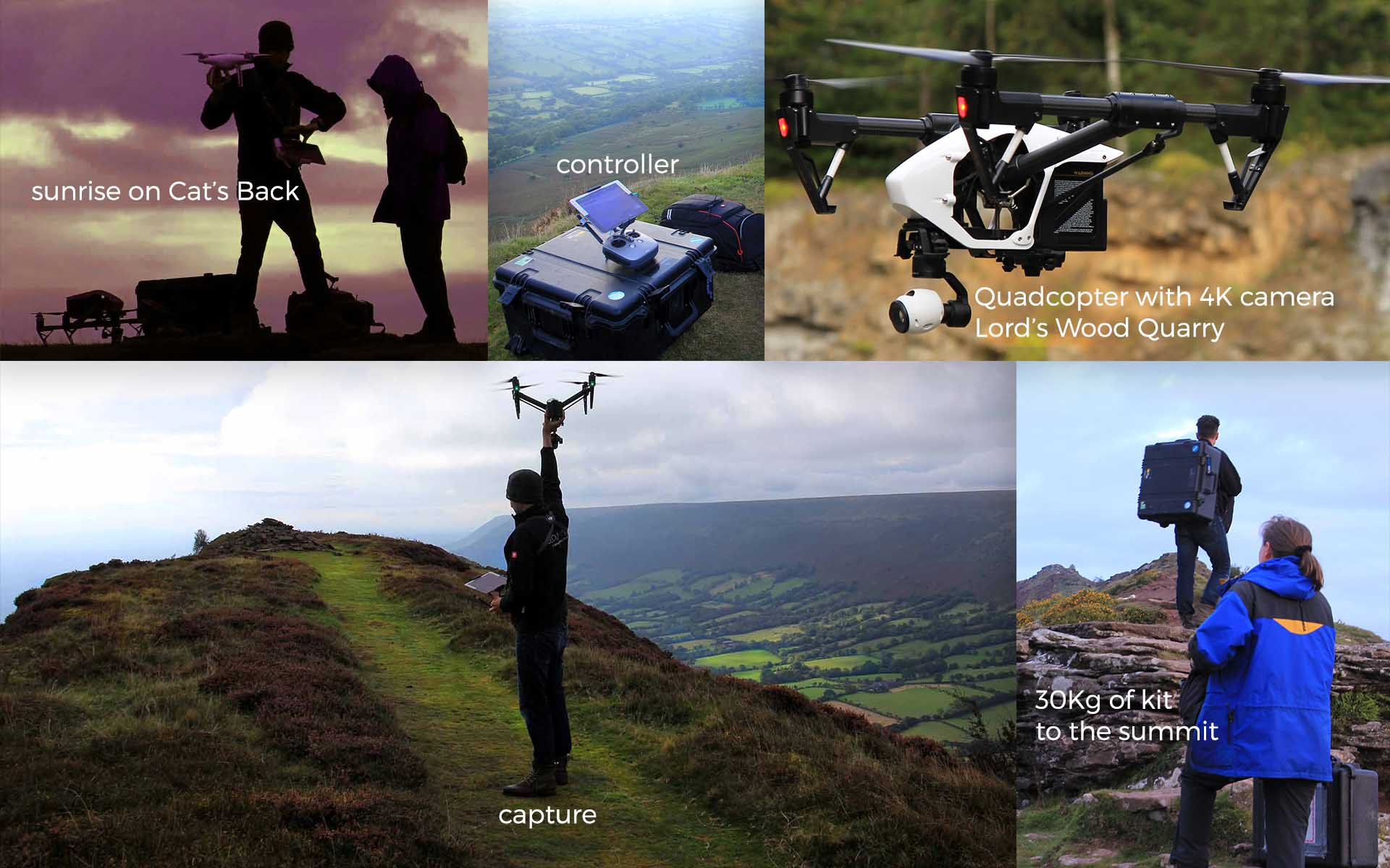 Drone filming in Olchon Valley Black Mountains